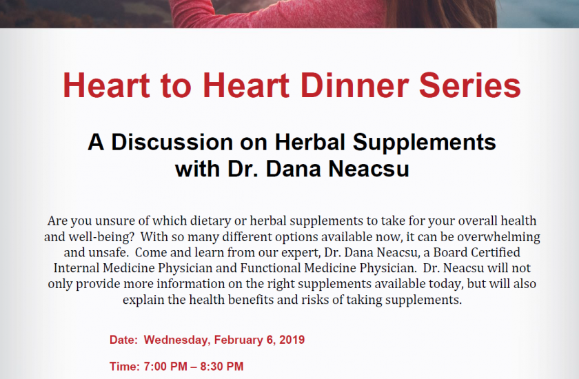 A Discussion on Herbal Supplements with Dr. Dana Neacsu