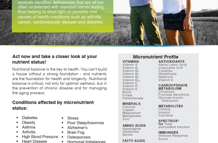Micronutrient blood testing